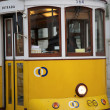 Stock Photo: Tram in Commerce Square, Lisbon, Portugal