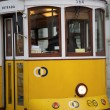 Tram in Commerce Square, Lisbon, Portugal — Stock Photo #9665082