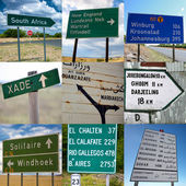 Travel signs — Stock Photo