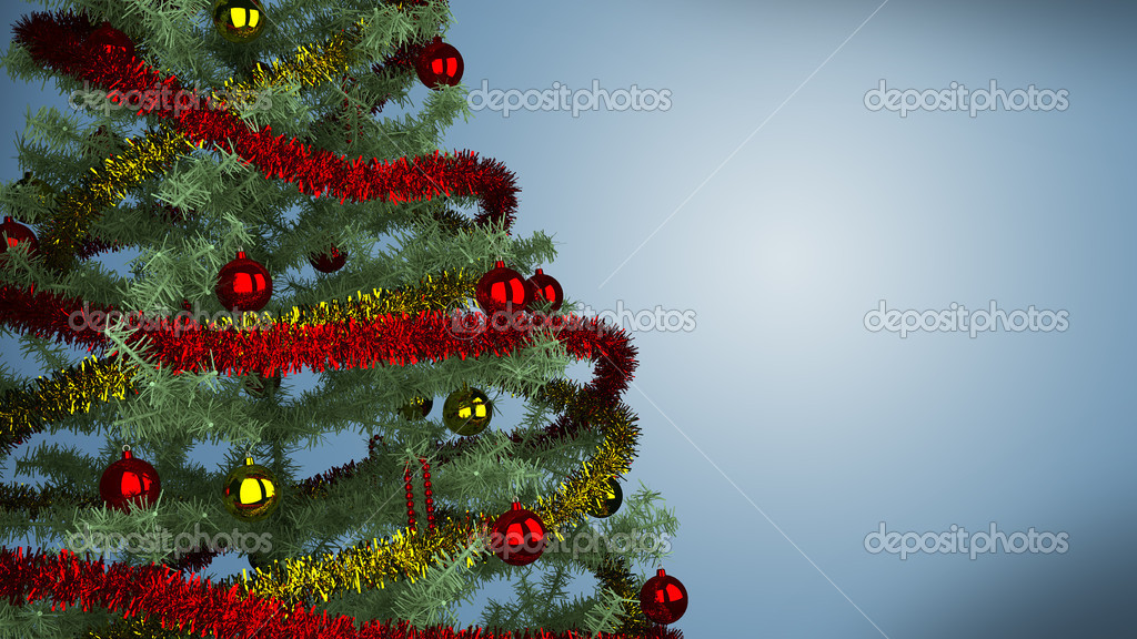 Christmas tree background  Stock Photo #8131984
