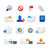 Professional e-mail Icons - Set 3 of 3 // Soft Series — Stock Vector