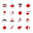 Food Icons / Set 1 of 2 // Redico Series — Stock Vector