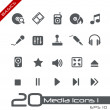Media Icons // Basics — Stock Vector