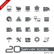 Server Icons // Basics — Stock Vector #10535213