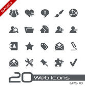 Web Icons // Basics — Stock Vector