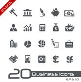 Business & finance iconen // basics — Stockvector