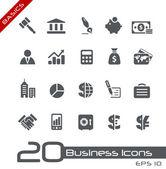 Business & finance iconen // basics — Stockvector