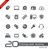 Computer Icons // Basics — Stock Vector