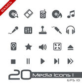 Media Icons // Basics — Vecteur