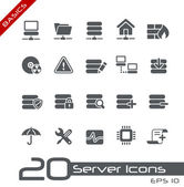Server Icons // Basics — Vector de stock