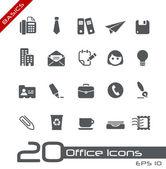 Office & business ikoner // grunderna — Stockvektor