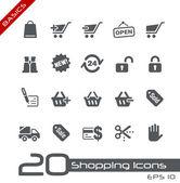 шоппинг иконки / / основы — Cтоковый вектор