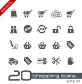 Shopping Icons // Basics — Vettoriale Stock