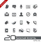 Medios de comunicación social iconos // básicos — Vector de stock