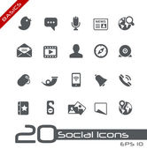 Sociale media iconen // basics — Stockvector