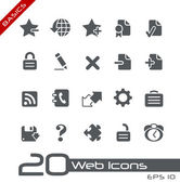 Web Icons // Basics — Vettoriale Stock