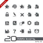Web icons // bases — Vecteur