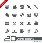 Web pictogrammen // basics — Stockvector