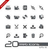 Web Icons // Basics — Stock Vector