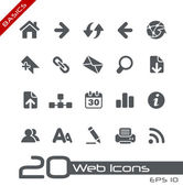 Iconos web // básico — Vector de stock