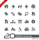 Web pictogrammen // basics — Stockvector