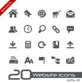 Website Icons // Basics — Stock Vector