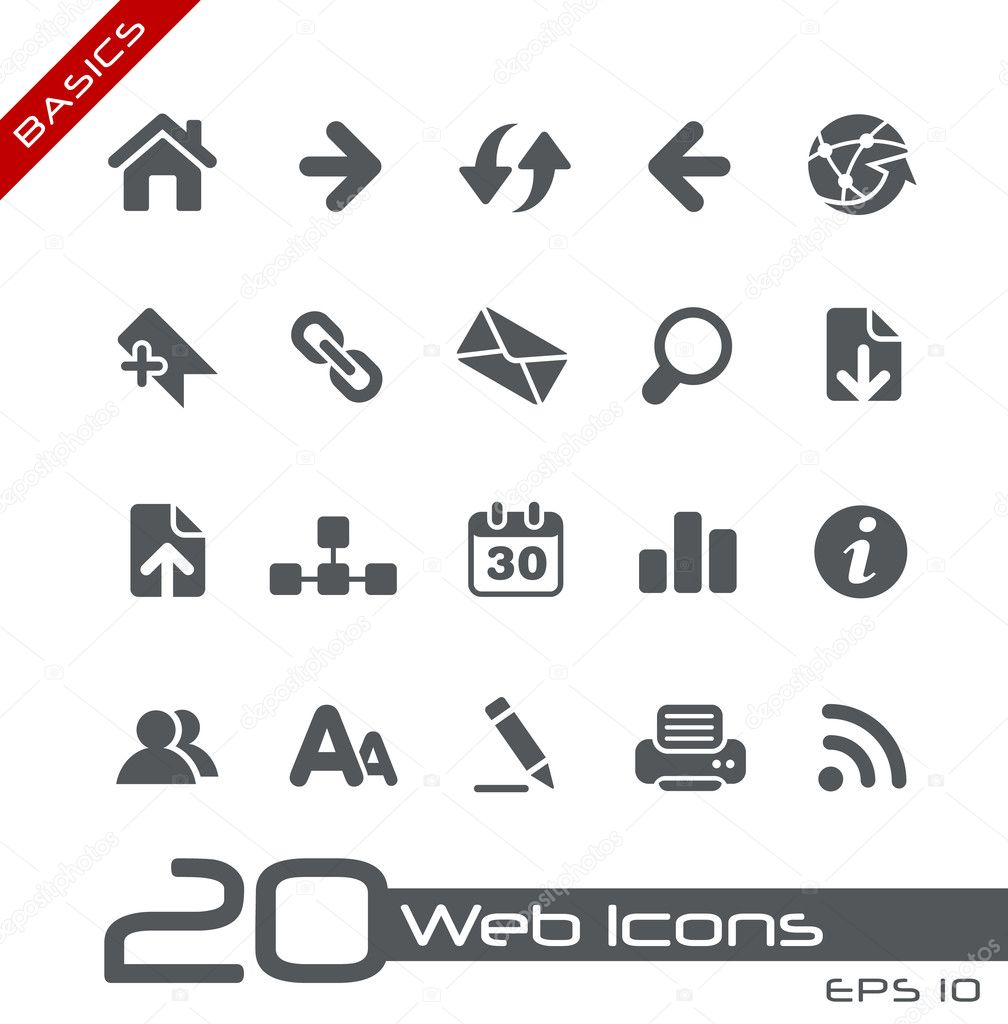 Vector icons for your web or printing projects. — Stock Vector #10535234