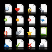 Web Icons // Pages — Stock Vector