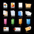 Royalty-Free Stock Vector Image: Print & Office Icons / / Black Background