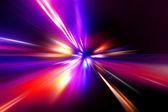 Hastighet rörelse på natten road — Stockfoto