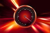 Speedometer on night road — Stock Photo