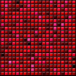 Abstract red background of convex gradient squares - Stock Photo