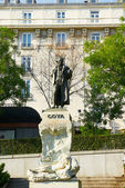 Monument historique du grand artiste goya — Photo