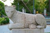 Statue of good predator nice antique — Stock Photo