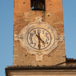 Detail of old city tower clock in Europe — Stock Photo #8980872