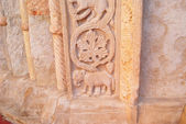 Fragment wall ornament antique church Italy — Stock Photo