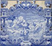 Blue tiles, Azulejos, Lisbon,Portugal — Stock Photo