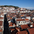 Stock Photo: Bird view panoramof Lisbon Downtown