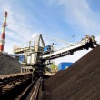 Storage of coal at power plants — Stock Photo #10409883