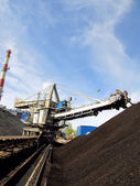 Storage of coal at power plants — Stock Photo