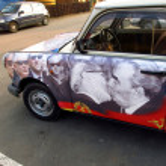 Trabant - East German plastic car — Stock Photo