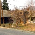 Old wooden farm — Stock Photo