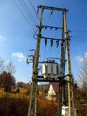 Low voltage transformer — Stock Photo