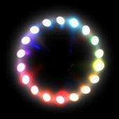 Duha fáze světelné projektory zářící sada — Stock vektor