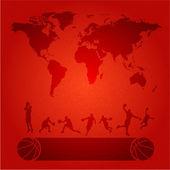 Basketball world — Stock Vector