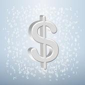 Pengar för copywriting koncept — Stockvektor