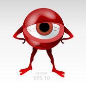 Angry tensed and upset eyeball — Stock Vector