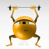 Fitness for eyes — Stock Vector