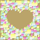 Post-it Notes Geständnisse — Stockvektor
