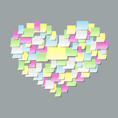 Post it notes confessions — Stock Vector